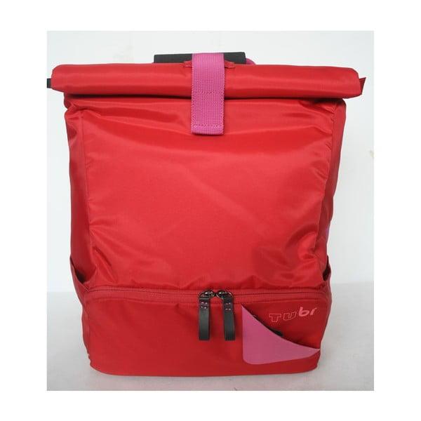 Velký batoh na kolo TUbí, červená/růžová