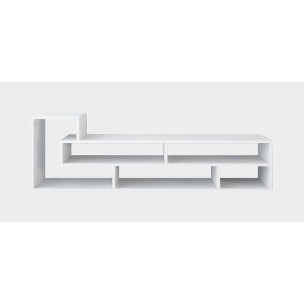 Bílý TV stolek Mikey, šířka135cm