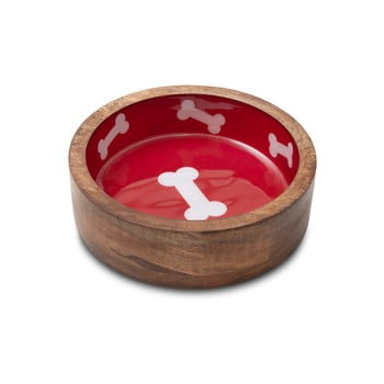 Bol din lemn pentru câini Marendog Natural, ⌀ 13 cm imagine