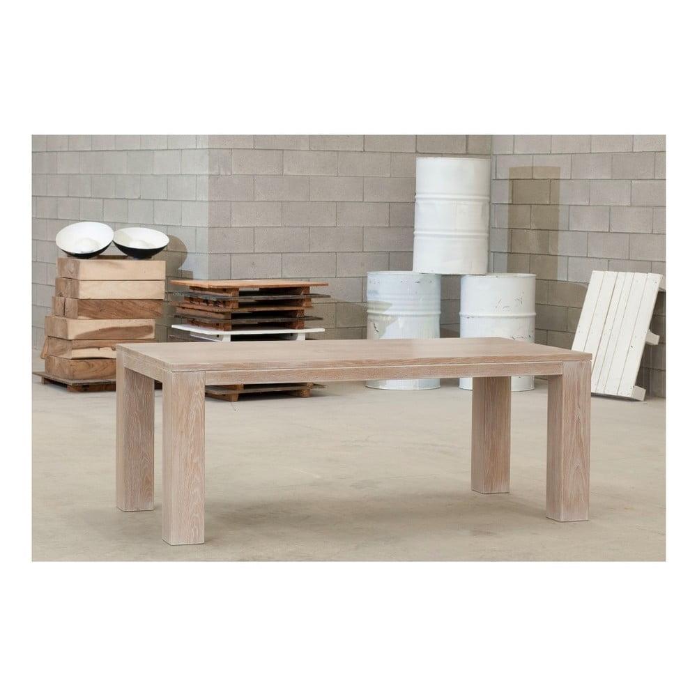 Jídelní stůl z masivního jasanového dřeva Castagnetti Nevada, 220 cm