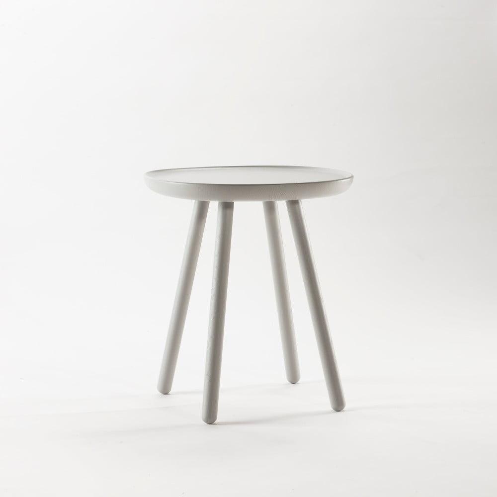 Šedý odkládací stolek z masivu Emko Naïve Small