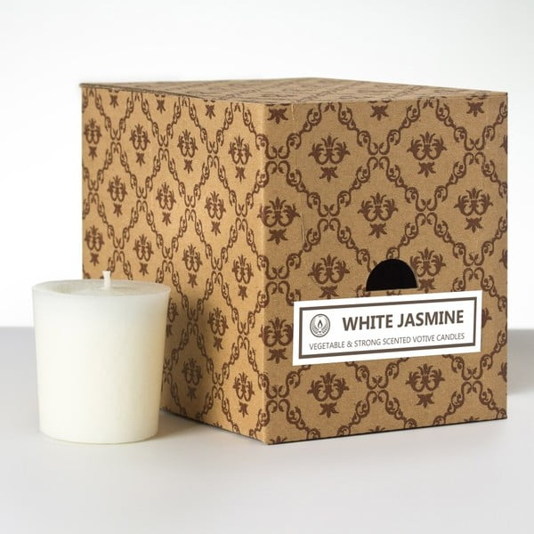 Sada 12 vonných svíček White Jasmine, 15 hodin hoření