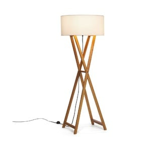Stojací lampa Wood Cream