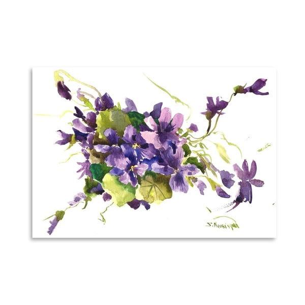 Plakát Violet Flowers od Suren Nersisyan