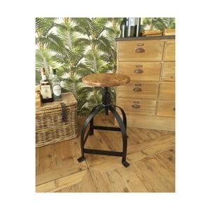 Stolička se sedátkem zakátového dřeva Orchidea Milano Industrial