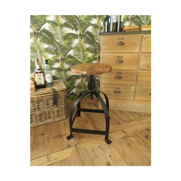 Stołek z drewna akacjowego Orchidea Milano Industrial