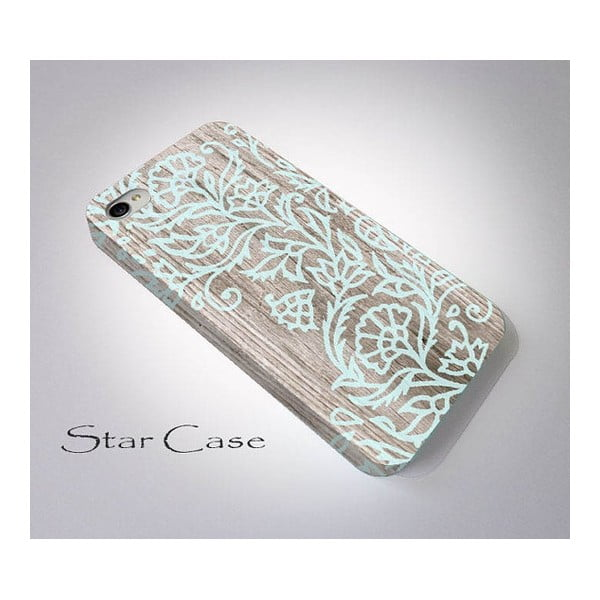 Obal na iPhone 6 Wood Floral Blue