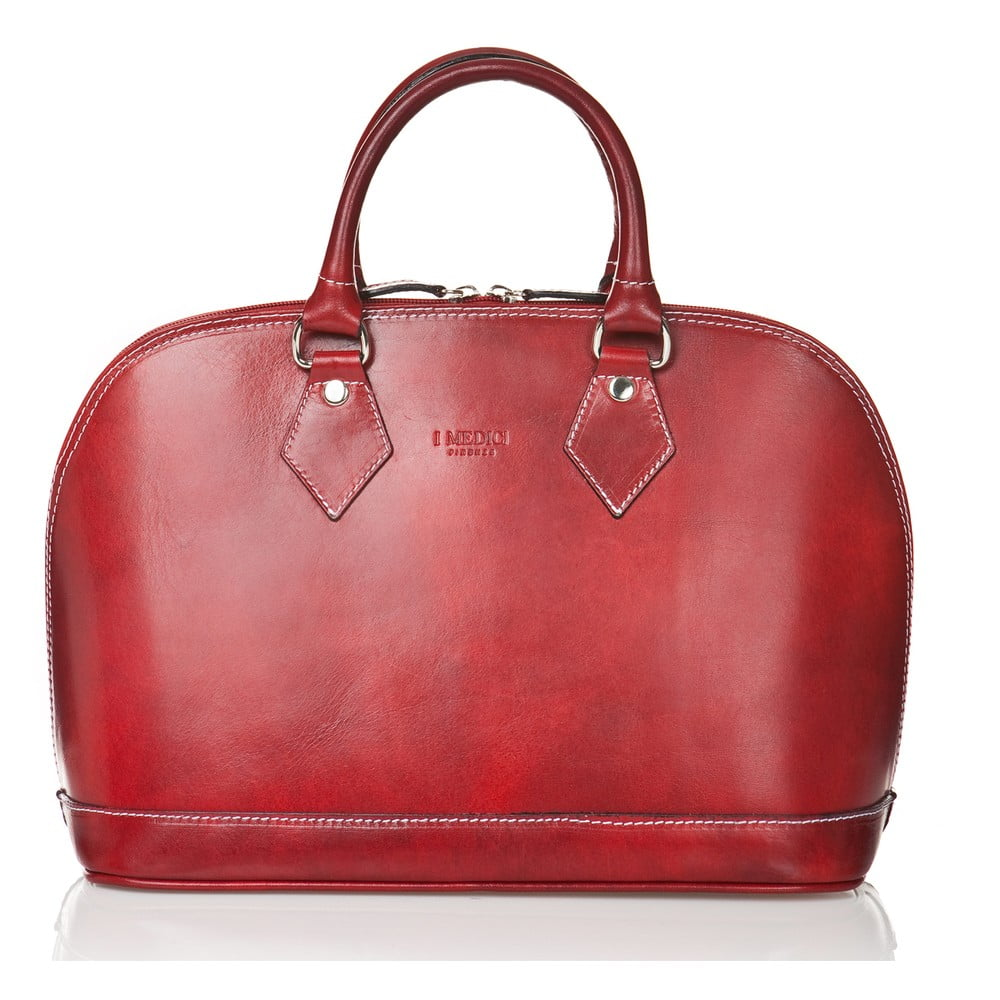 Červená dámská kabelka z telecí kůže Medici of Florence Rosalia  fac90320795