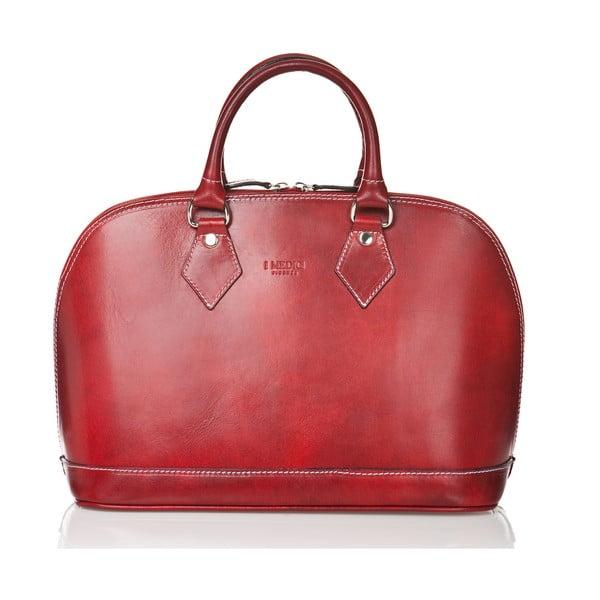 Červená dámská kabelka ztelecí kůže Medici of Florence Rosalia