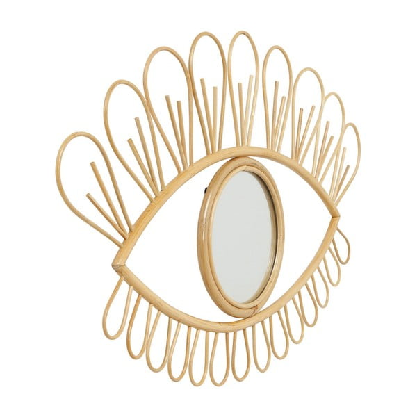 Nástěnné zrcadlo s rataovým rámem Kare Design Eye, 39x61cm