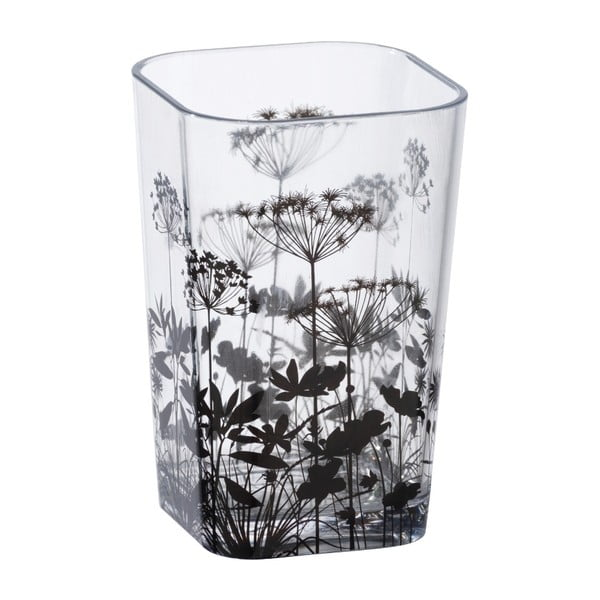 Transparentný téglik na kefky s kvetinovou potlačou Wenko Botanic