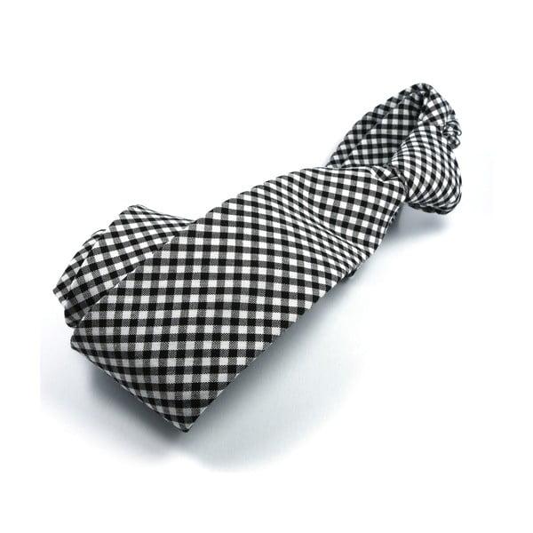 Černá kostičkovaná kravata