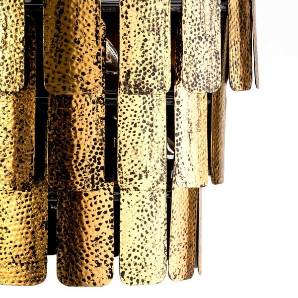 Závěsné svítidlo z kovu zlaté barvy Thai Natura Artist