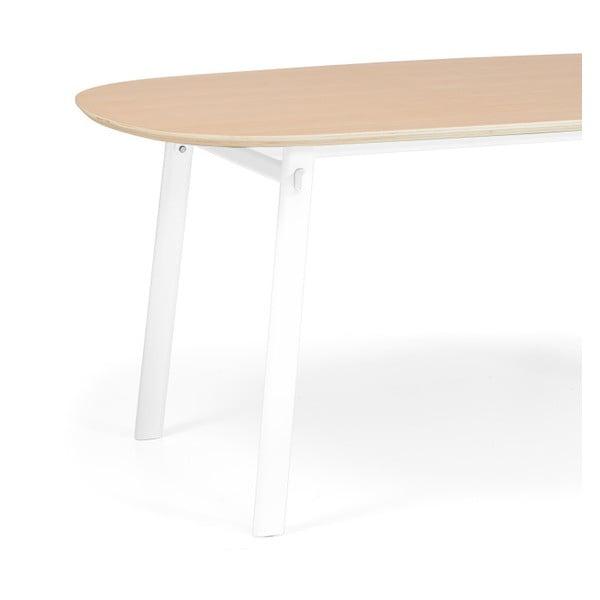Bílý jídelní stůl z dubového dřeva HARTÔ Céleste, 220x86cm