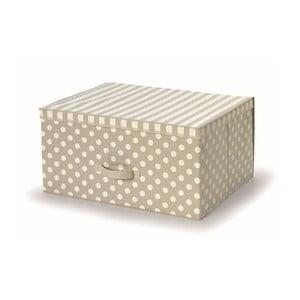 Béžový uložný box s víkem Cosatto Trend,45x60cm