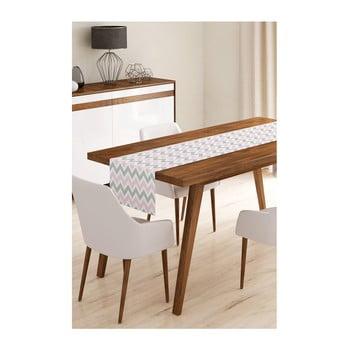 Napron din microfibră pentru masă Minimalist Cushion Covers Pinky Grey Stripes, 45x145cm imagine