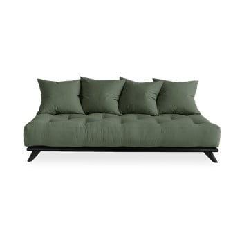 Canapea Karup Design Senza Black/Olive Green, verde