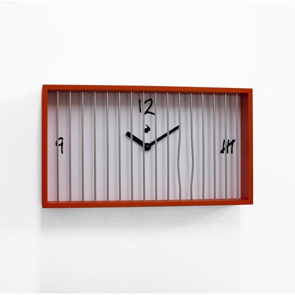 Nástěnné hodiny Libero, oranžové