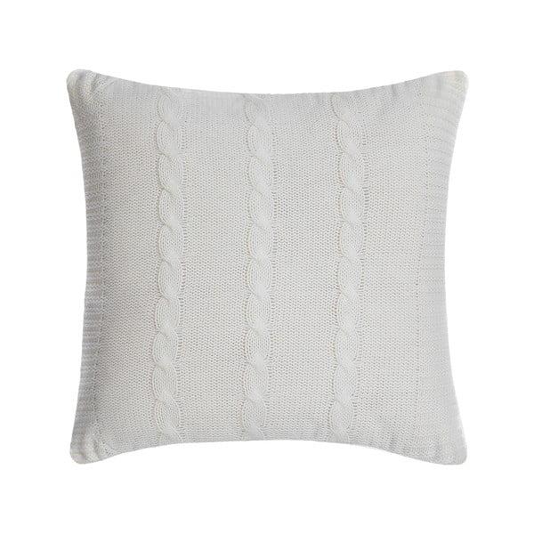 Pletený polštář Kosem 43x43 cm, krémový