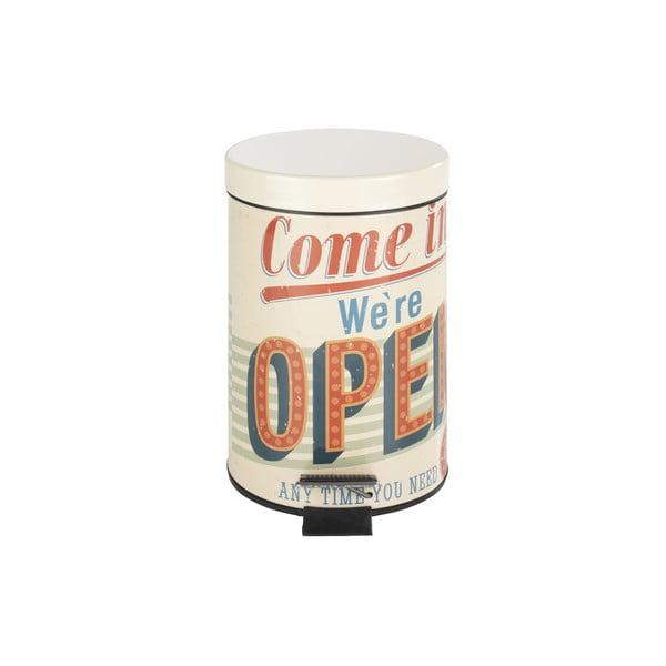 Pedálový retro odpadkový koš Open, 3 l