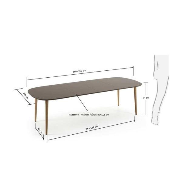 Rozkládací jídelní stůl La Forma Oakland, délka160-260cm