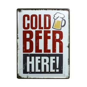 Cedule Cold Beer, 30x40 cm
