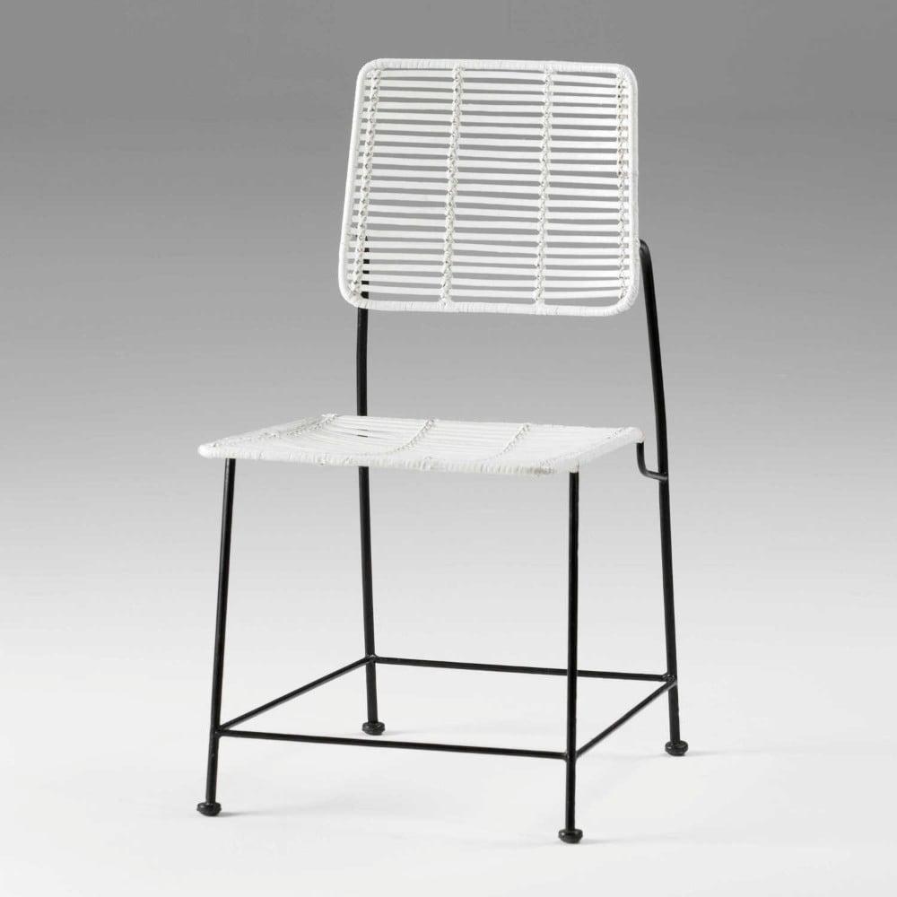 Bílá proutěná židle Thai Natura, výška 85cm