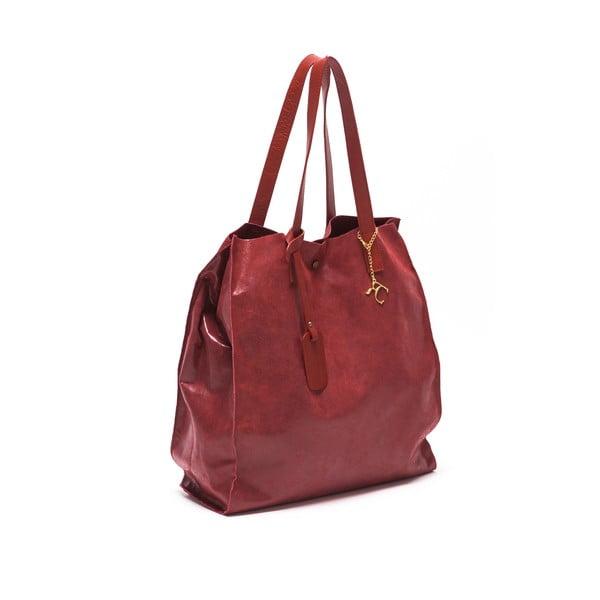 Kožená kabelka Renata Corsi 892, červená