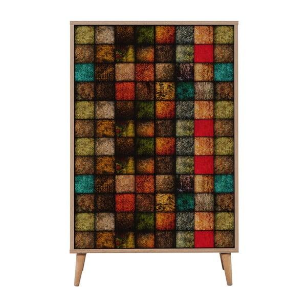 Comodă variabilă cu 2 uși Multibox Square, 127 x 80 cm