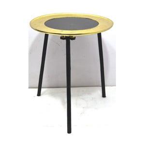 Odkládací stolek s detailem ve zlaté barvě Miloo Home Cicero