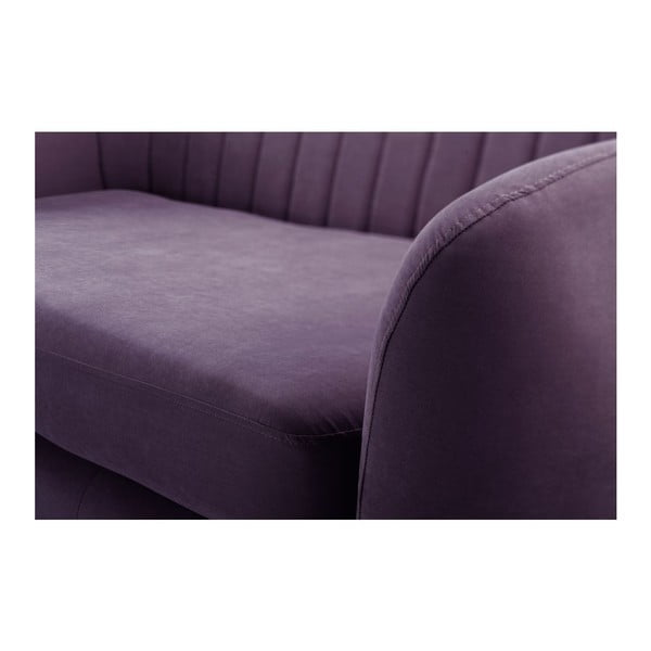 Canapea cu șezlong pe partea dreaptă Comete, mov