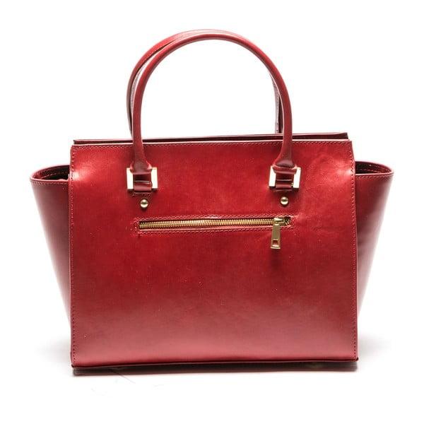 Červená kožená kabelka Sofia Cardoni Vanessa