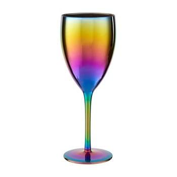 Set 4 pahare de vin cu efect de curcubeu Premier Housewares Rainbow, 473 ml
