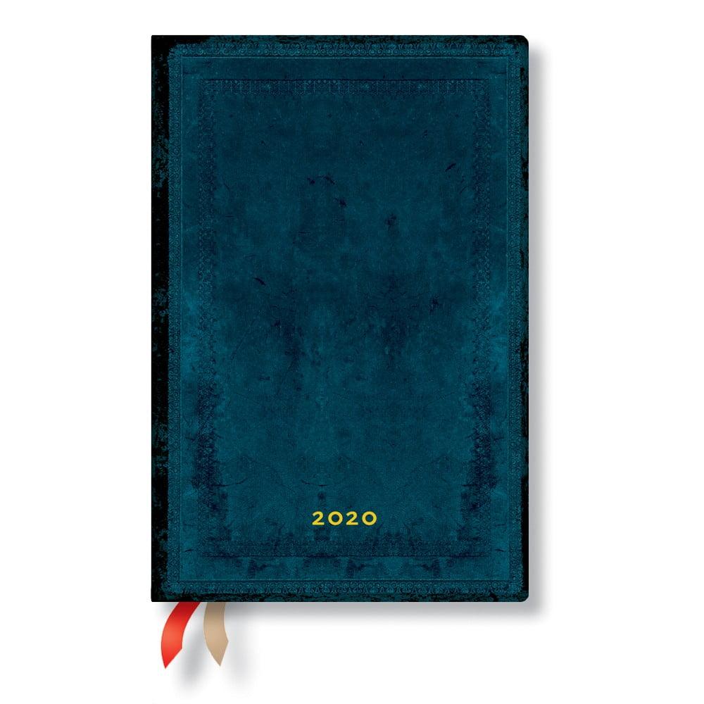 Modrý diář na rok 2020 v tvrdé vazbě Paperblanks Calypso, 368stran