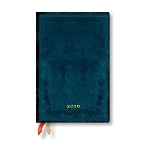 Agendă pentru anul 2020, cu copertă tare Paperblanks Calypso, 368 file, albastru
