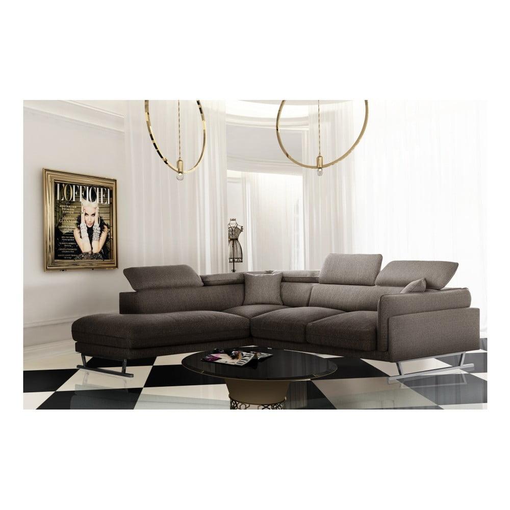 L Officiel Interiors Gigi oříškově hnědá rohová pohovka s lenoškou na levé straně l'officiel  interiors gigi big | bonami