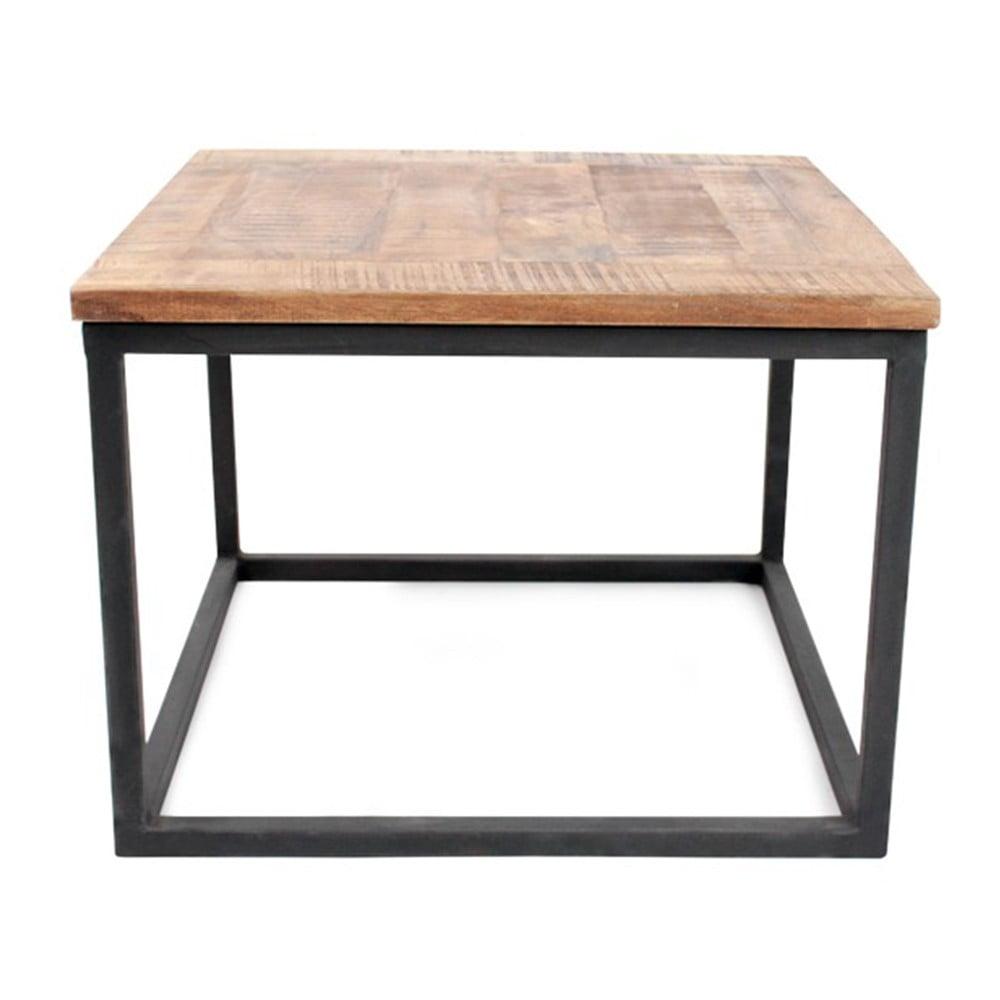 Černý konferenční stolek s deskou z mangového dřeva LABEL51 Box