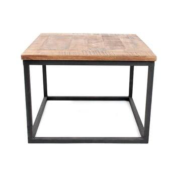 Măsuță auxiliară cu blat din lemn de mango LABEL51 Box, negru imagine