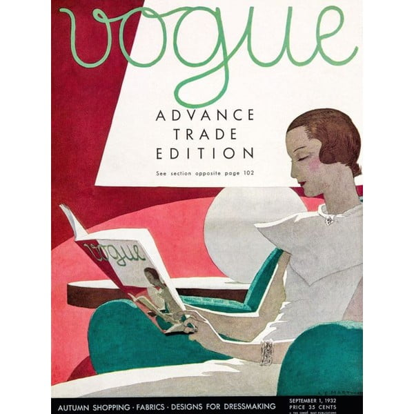 Vogue 2 poszter, 30 x 40 cm - Blue-Shaker
