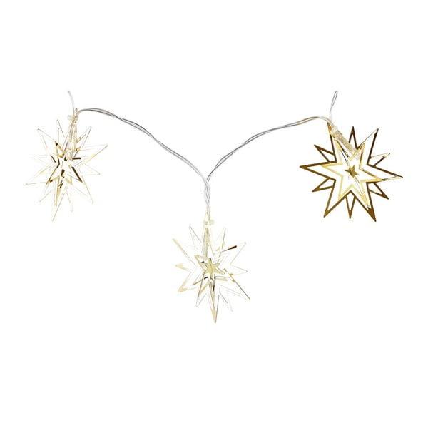 Łańcuch świetlny LED w złotym kolorze Villa Collection Harmony, 10 lampek