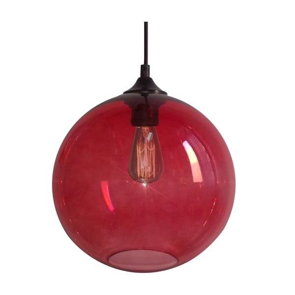 Závěsné světlo Edison, červené