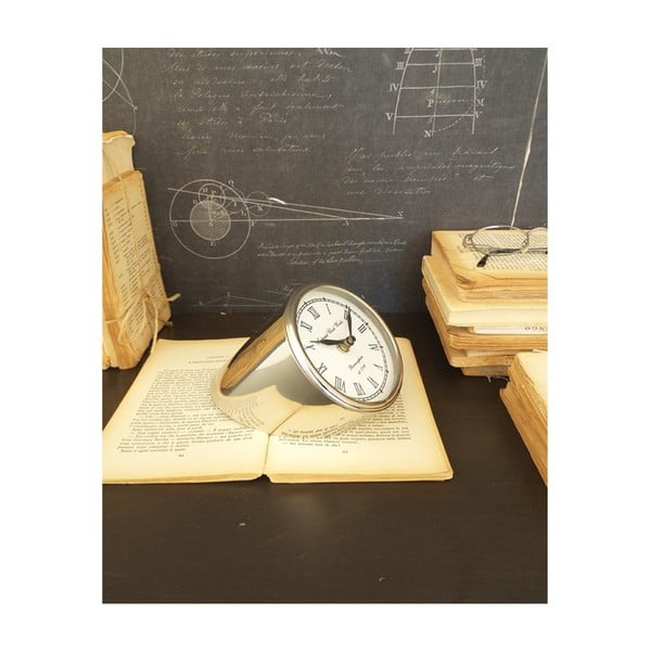 Davide asztali óra acélból, magasság 20 cm - Orchidea Milano