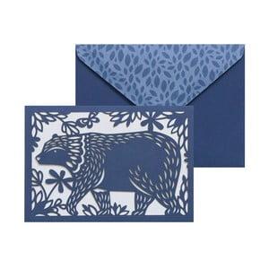 Set 10 felicitări cu plic  Portico Designs FOIL Folklore Bear