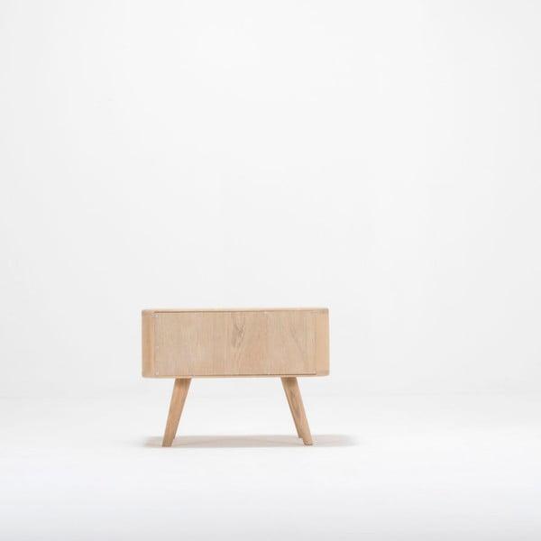 Noční stolek z dubového dřeva Gazzda Ena Two,55x42cm