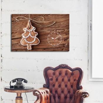 Tablou Cu Ceas Christmas No. 1,45x70cm