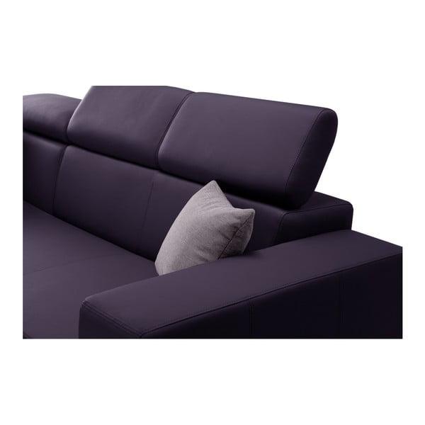 Švestkově fialová rozkládací sedačka Interieur De Famille Paris Tresor, levý roh