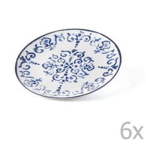 Sada 6 dezertních talířů Antico Blue, 19.5 cm