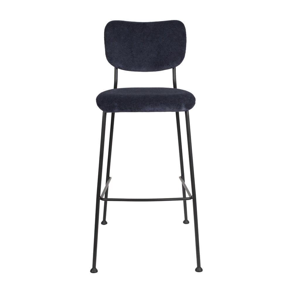 Tmavě modrá barová židle Zuiver Benson, výšky 102,2 cm