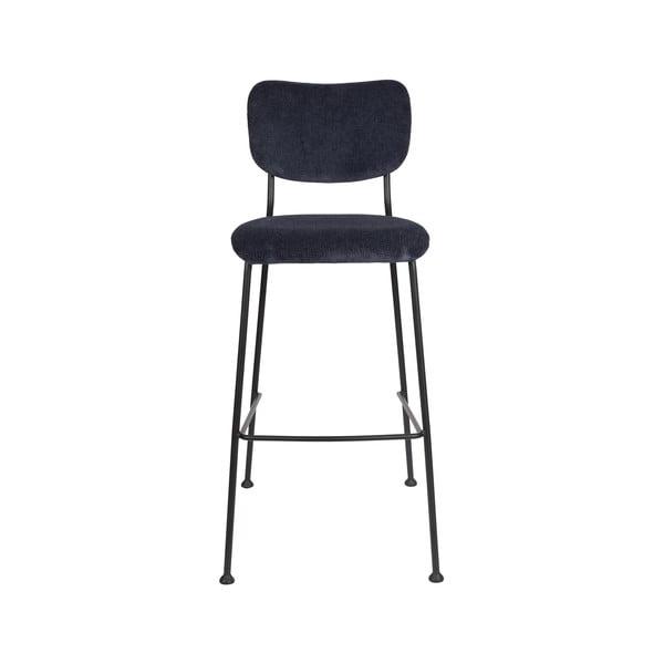 Sada 2 tmavě modrých barových židlí Zuiver Benson, výška 102,2 cm