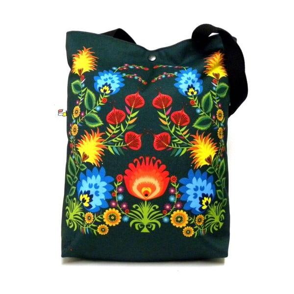 Velká taška Černé květiny